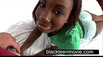 Cute ebony teen with a nice butt in hardcore bl... Thumbnail