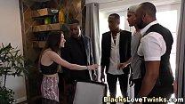 Group of black dudes cum