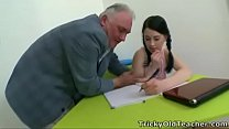 Tricky Old Teacher - Olga is a good student