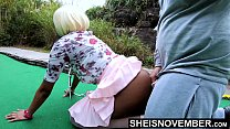19921 4k Slow Motion Creampie Inside Of Hot Ebony Spinner Msnovember Coochie , Cum Load Dripping Out Slowly From Up Skirt Point Of View , Her Submissive Thick Butt Spanked While On Her Knees Getting Pounded From The Back  HD Reality Sheisnovember preview