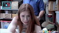 Hot Red Head Shoplifter Blackmail Security Fuck Thumbnail