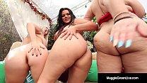 Maggie Green, Angelina Castro & Sam38G Masturbate Non Stop! Thumbnail