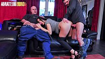 AMATEUR EURO - Dirty MILF Wife Eloa Lombard Takes DP From Husband And His Best Buddy