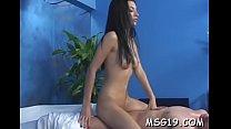 Sexy masseuse with petite tits