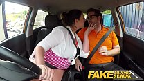 Fake Driving School Busty curvy learners horny blowjob and fucks to orgasm preview image