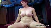 Two chubby matures pleasing one man