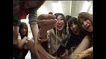 Japanese schoolgirls handjob
