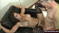 TS Tori getting fucked her cocky friend