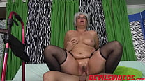 17047 Big ass granny gets dicked from behind by a young pervert preview