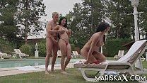 MARISKAX Mariska And Valentina Seduce Their Ste