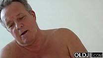 Young Girl Vs Old Man - Skinny Teen taking faci...
