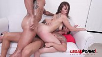 Hot latina Dana Curly gets her first DP & DVP SZ2318 thumbnail