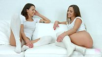 Sensual lesbians Amirah Adara and Suzy Rainbow in scene by SapphiX