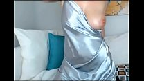 Big tit MILF in Satin cums multiple times thumbnail