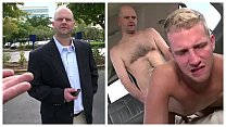 BAIT BUS - Middle Aged Salaryman Thomas Hoffman Cheats On His Girlfriend... With A Guy!