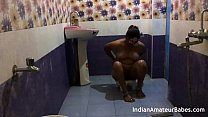 Indian wife fuck with friend absence of her husband in shower