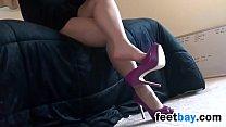 Cute Girl She Dangles Her High Heels