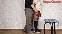Schoolgirl gave a blowjob to a photographer for...