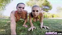Horny Girl Get Her Big Butt Oiled And Banged De...
