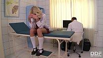 Sadistic Doctor Binds, Spanks, and Fucks Rebellious Schoolgirl Kiara Lord