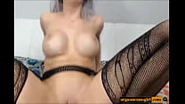 Silver haired hottie with big round jugs toys - Watch more on orgasmcamsgirl.com