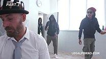 Clockwork Nightmare - The hoodie clan engages in Wild as Fuck Gang Bang! thumbnail