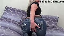 Is my denim thong making your cock hard JOI