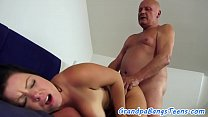 Busty eurobabe fucked deeply by grandpa