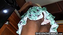 Alluring Step Daughter Up Skirt Poka Dot Panties In Sexy Butt Cleaning Before Dad Gets Home , Little Ebony Msnovember Sexy Booty Wedgie HD On Sheisnovember صورة