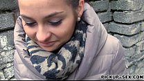 Cute amateur brunette Czech babe screwed for a few bucks