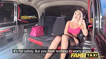 Fake Taxi Sexy blonde in tight denim shorts wit...