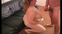 Bbw handjob and giant cumshot