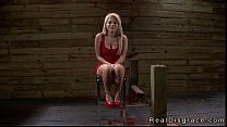 Bent over and tied blonde rough fucked preview image