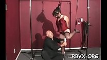 Slut gets her pussy eaten out during the time that being belted