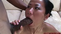 Asian takes 2 monster black cocks Preview