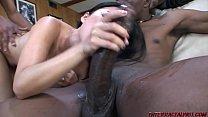 Asian takes 2 monster black cocks صورة