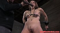 Tit bonded bdsm sub dildo penetrated video
