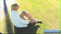 Hot Blonde Teen Amateur Arya Gets Naked In Publ