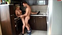 Amateur hot babe fuck in kitchen