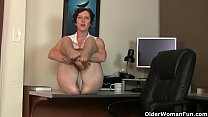 Big clit milf Raquel and hairy pussy mom Artemisia in nylon video