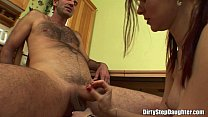 Redhead Stepdaughter Fucked By Stepdad In The Kitchen Preview