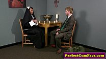 Plump brit nun cocksucking until face spunked pornhub video