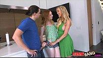 Big boobs milf  Brandi Love and teen slut nast  teen slut nasty 3way on sofa
