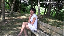 brunette teen Virginie casting