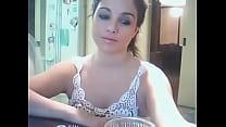 Cara de princesa y tetas maravillosas en la webcam video