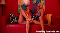 Ballbusting from two hot milfs 17 - LonelyMilfCams.com