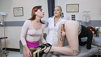 Anal gaping and fisting lesbian threesome's Thumb