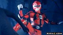 Power Rangers xxx parody with pornstar Abigail Mac Vorschaubild