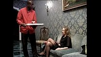 Smoking white slut wants to be fucked by her black servant preview image