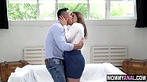 Horny mom flashes her shaved pussy in a park - milf anal